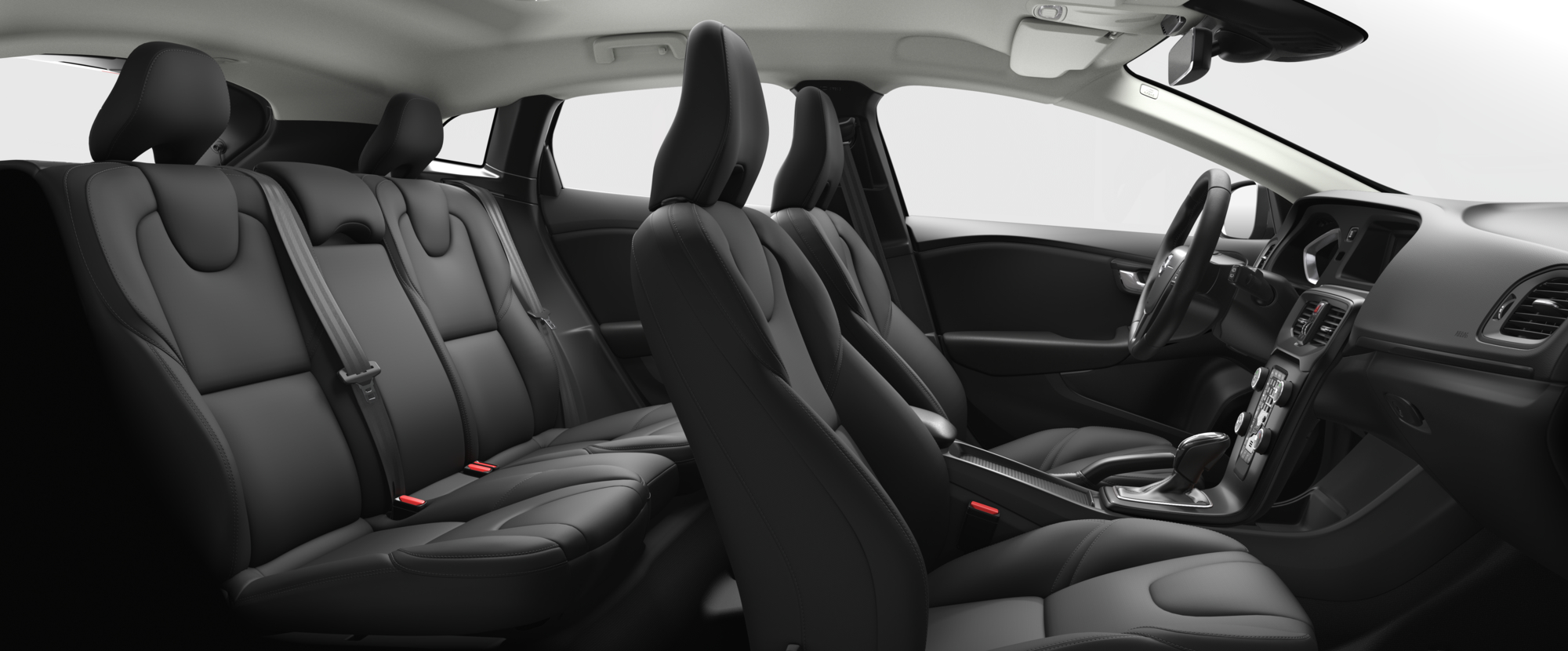 Interior shot of the Volvo V40 Cross Country with Charcoal Textile Seats