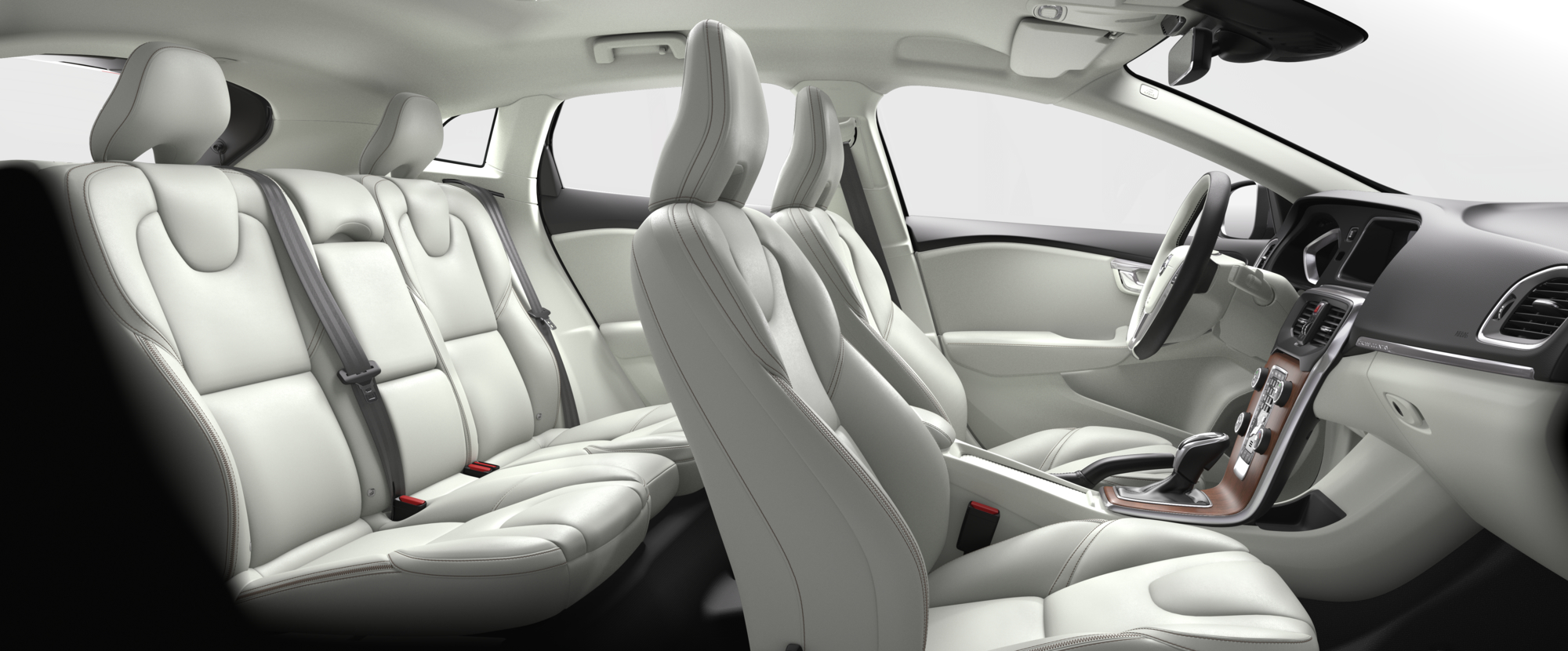 Interior shot of the Volvo V40 Cross Country with Blond Leather Seats