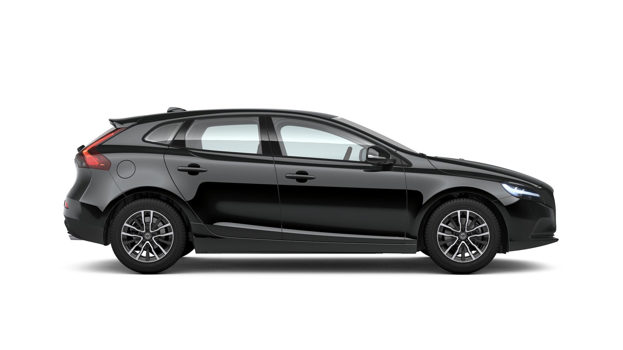 Side photo of the Volvo V40 in Black
