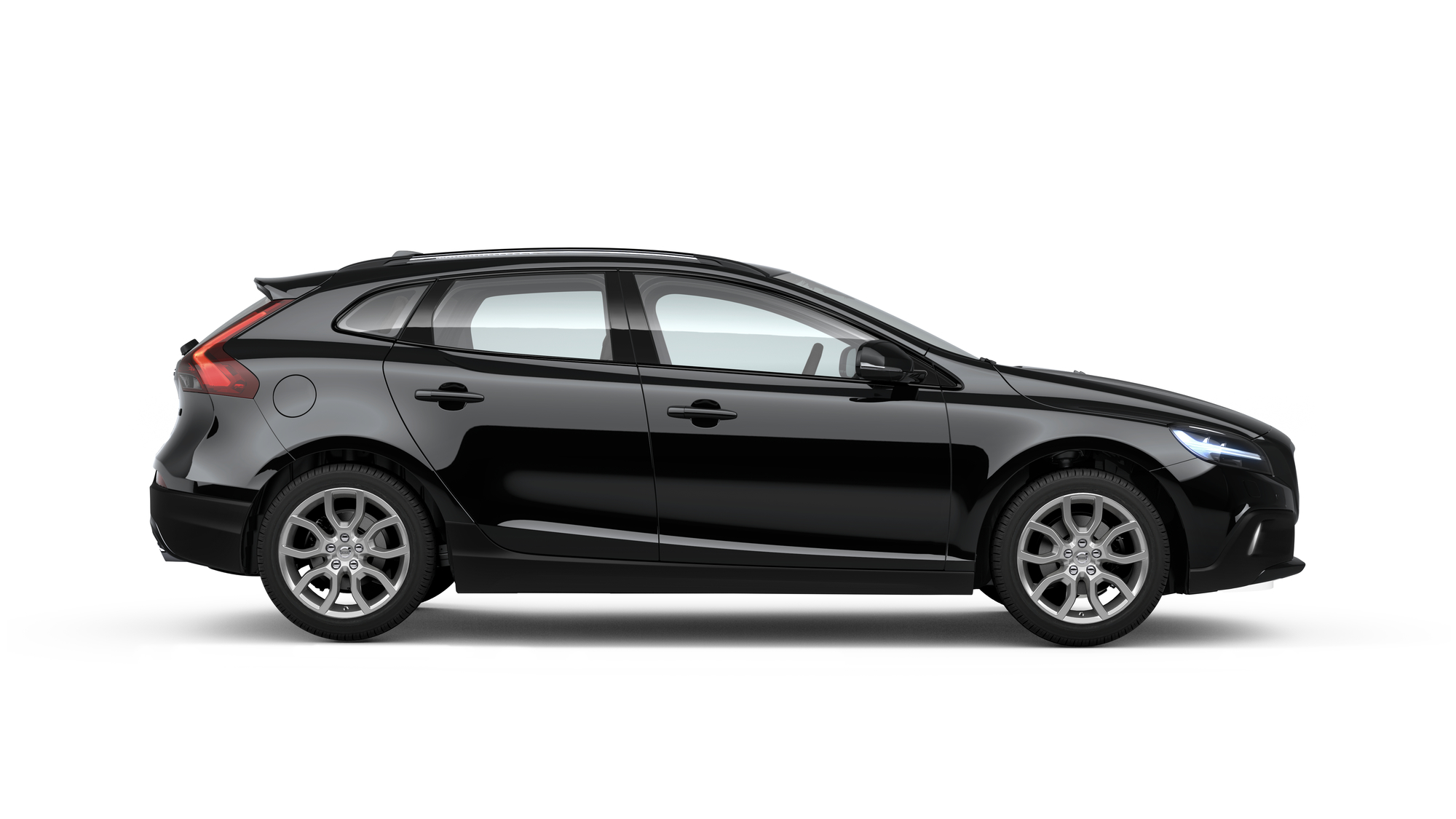 Side photo of the Volvo V40 Cross Country in Black
