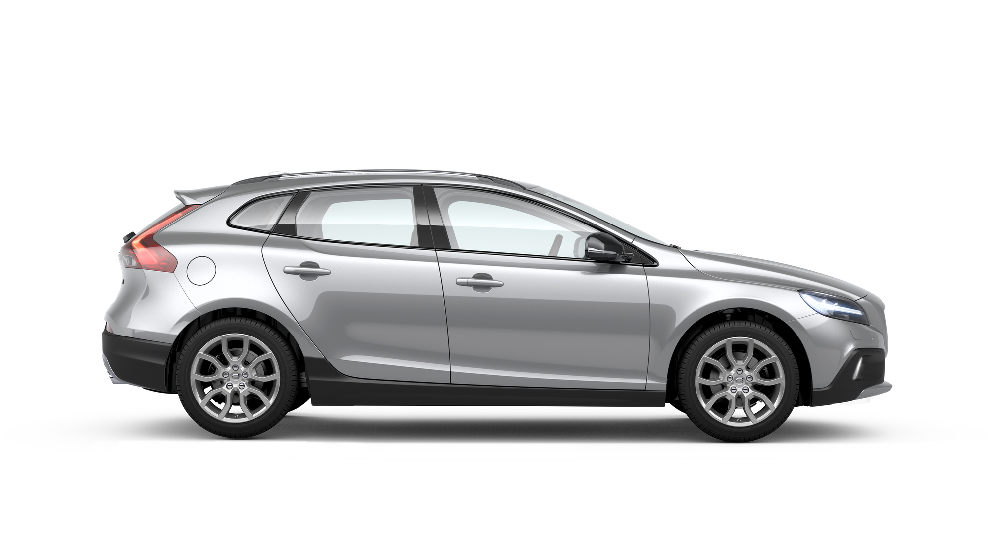 Side photo of the Volvo V40 Cross Country in Bright Silver
