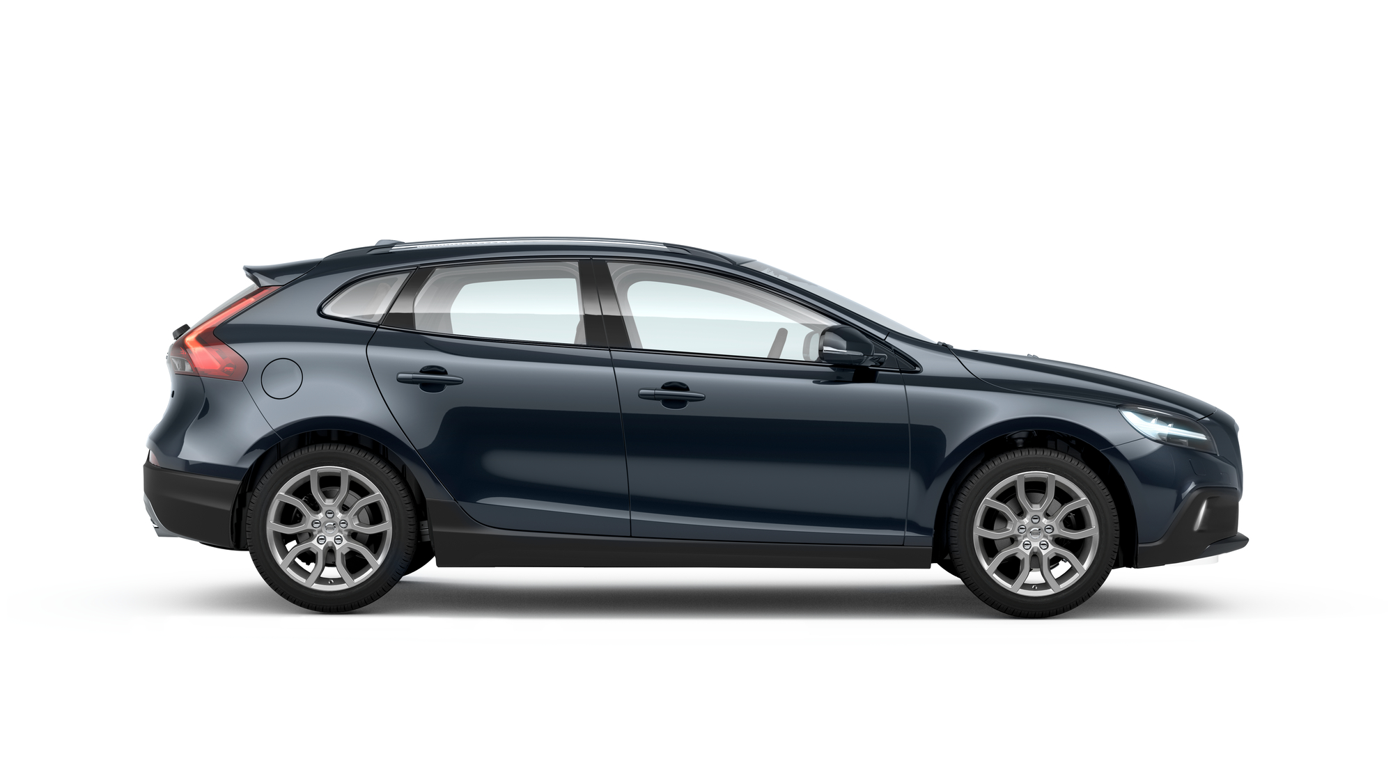 Side photo of the Volvo V40 Cross Country in Denim Blue