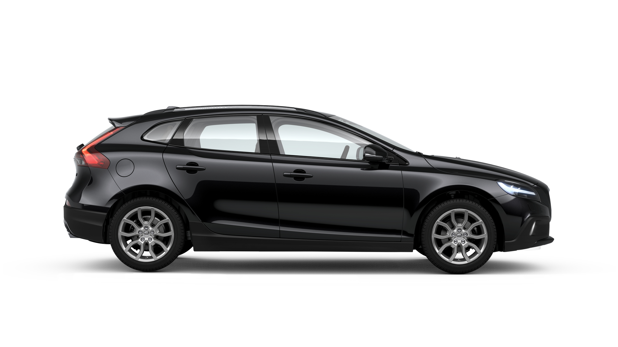 Side photo of the Volvo V40 Cross Country in Onyx Black
