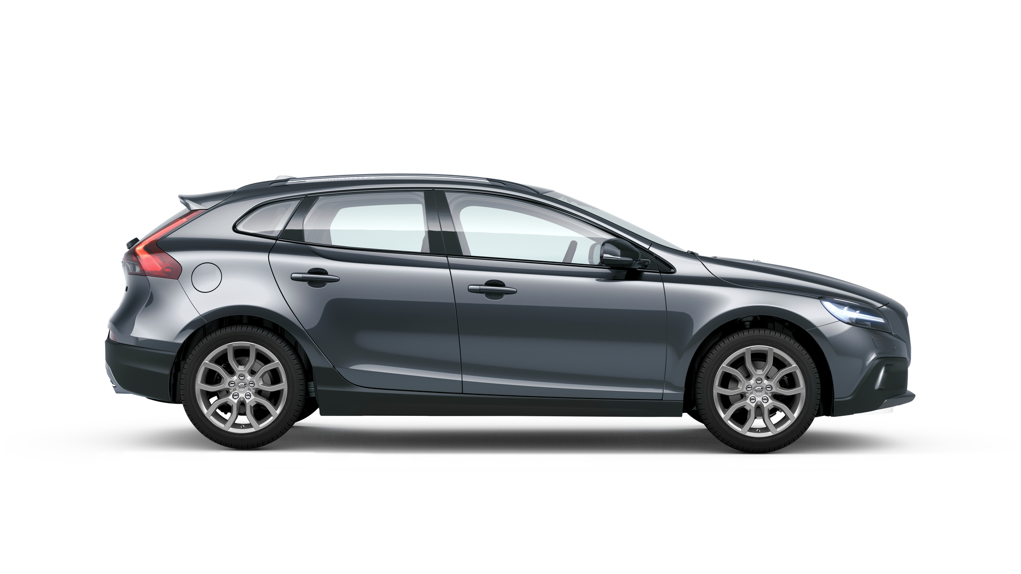 Side photo of the Volvo V40 Cross Country in Osmium Grey