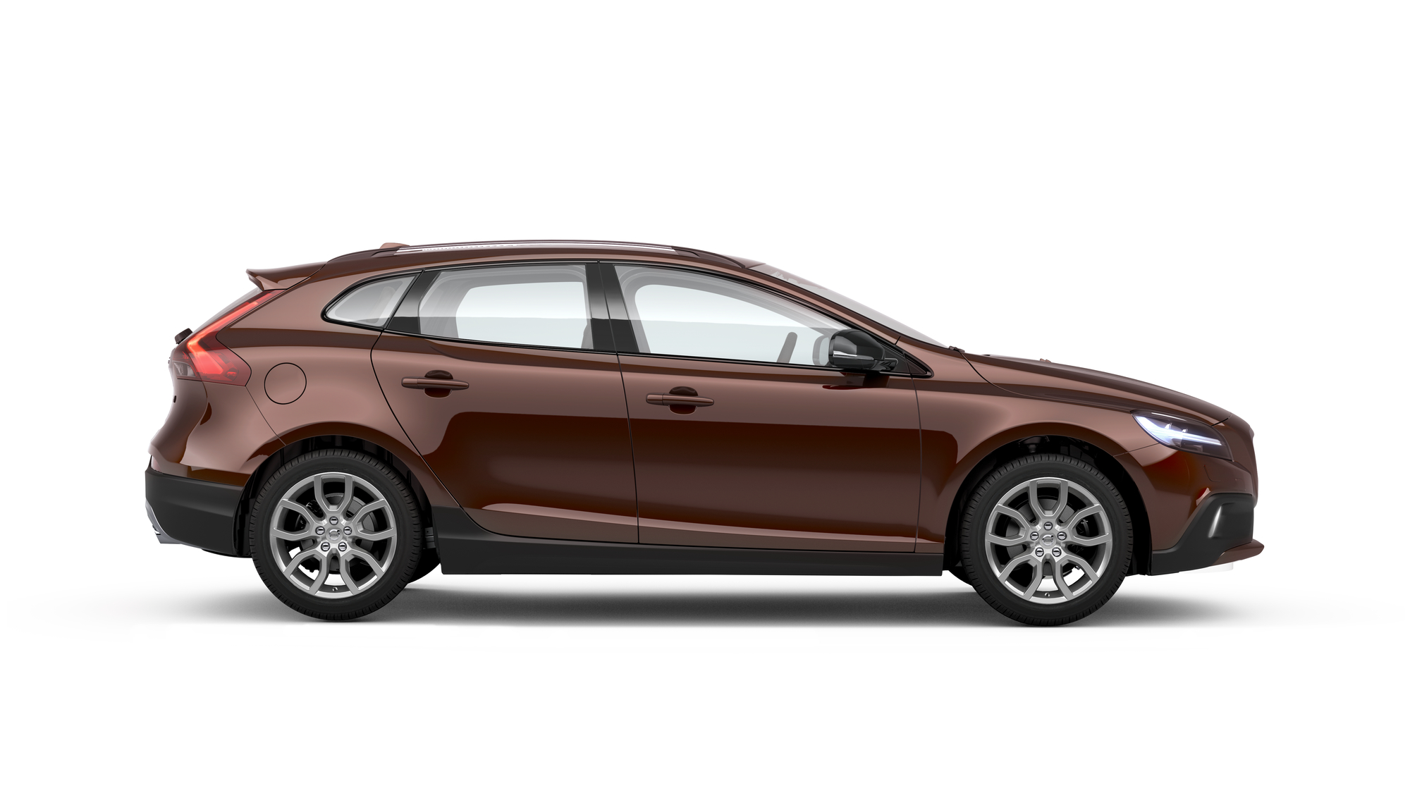 Side photo of the Volvo V40 Cross Country in Rich Java