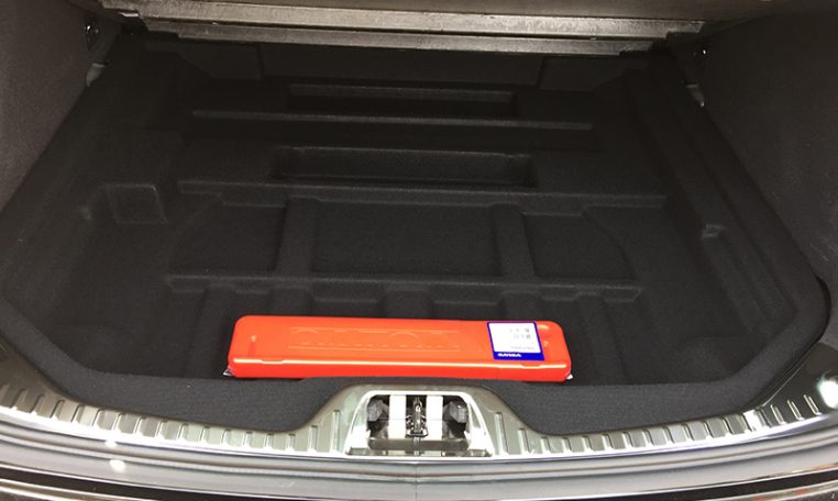 Trunk of the Volvo V60