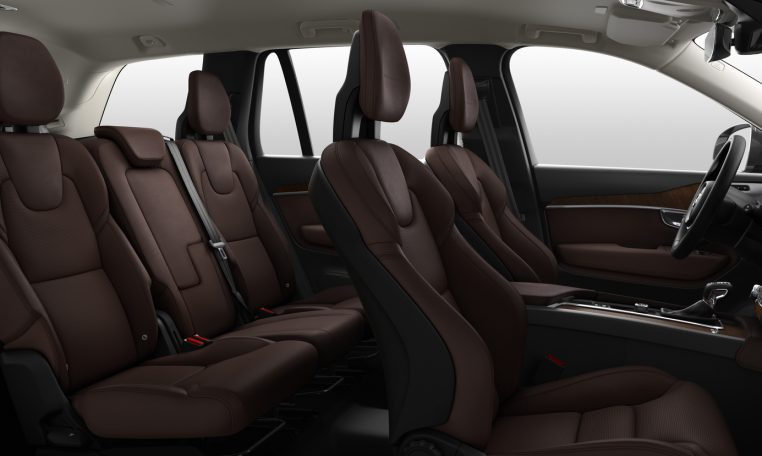 Interior shot of the Volvo XC90 in Inscription