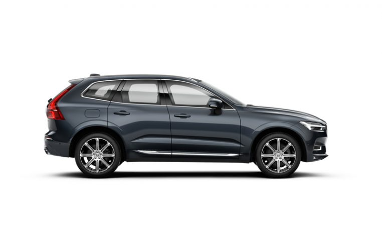 Side photo of the Volvo XC60 Inscription in Denim Blue